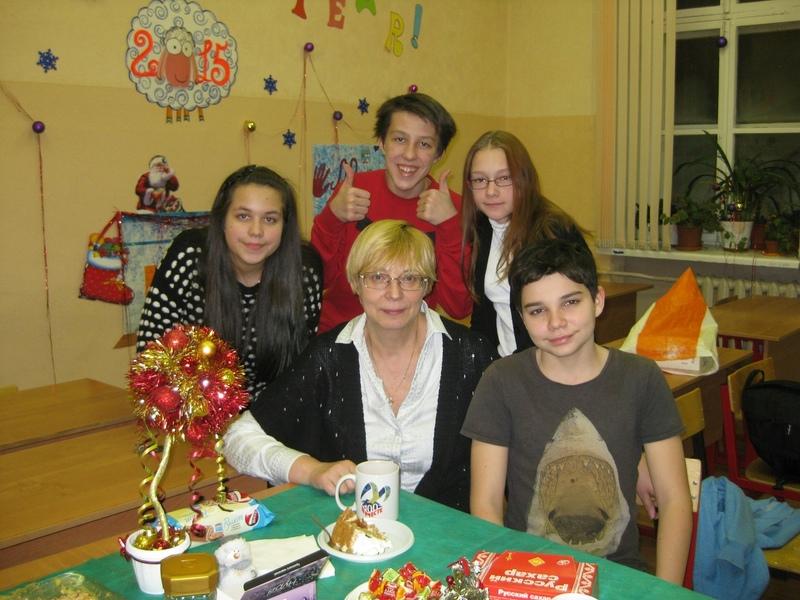 Светлана Карнаухова со своими учениками
