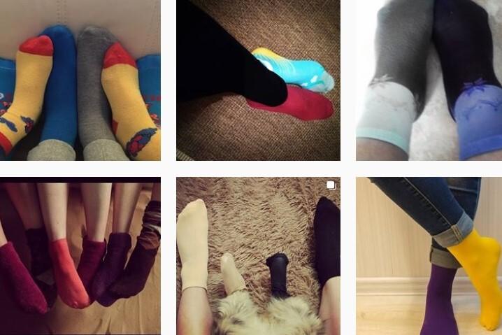 548703bc39a17 Разные носки - символ непохожести и голос за то, чтобы люди с особенностями  развития могли комфортно жить в нашем обществе, поясняет телеведущая.
